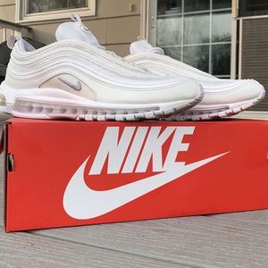 "Nike ""triple white"" air max 97's"